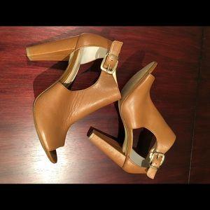 Banana Republic leather heel peep toe booties